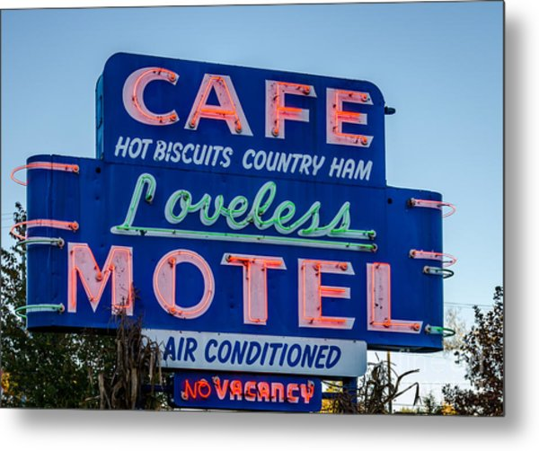 Loveless Cafe And Motel Sign Metal Print