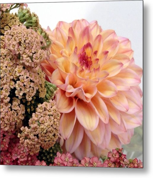 Dahlia Flower Bouquet Metal Print