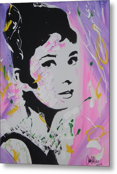 Lovely Audrey Metal Print