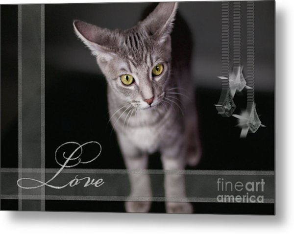 Lovely Face Card Metal Print