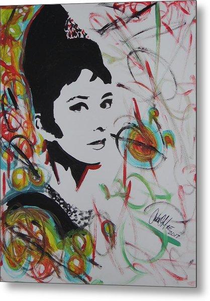 Lovely Hepburn Metal Print