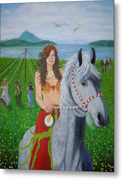 Lover / Virgin Goddess Rhiannon - Beltane Metal Print
