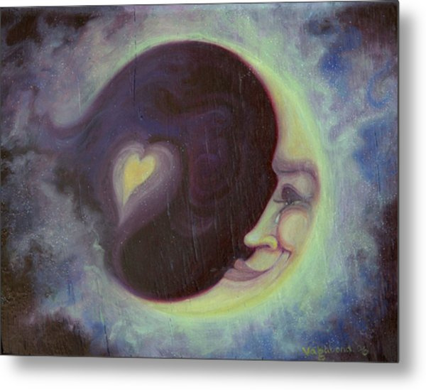 Lovermoon Metal Print