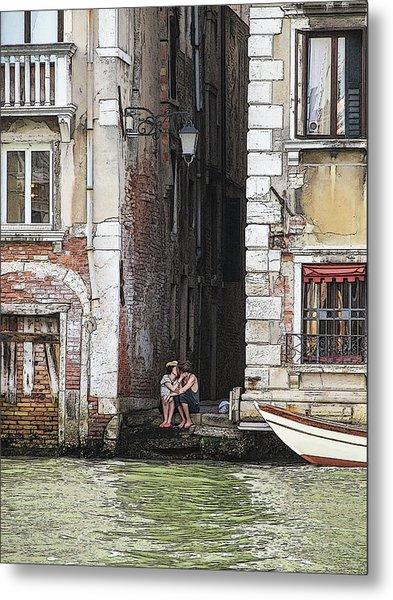 Lovers In Venice Metal Print