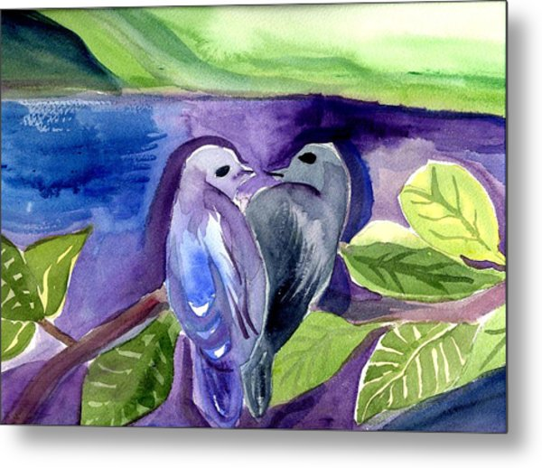 Lovers Metal Print by Janet Doggett