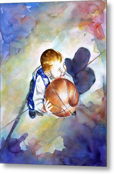 Loves The Game Metal Print