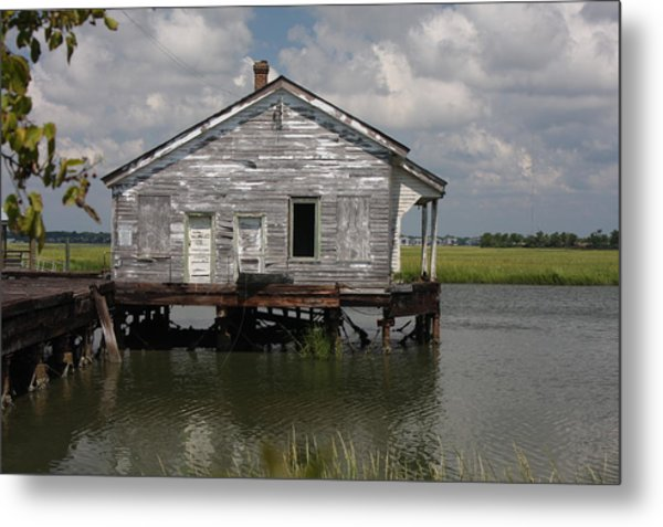 Low Country Fish Shack Metal Print