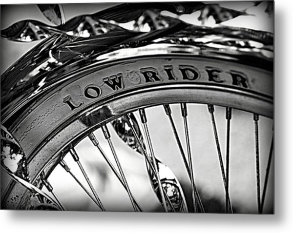 Low Rider In Black And White Metal Print by Tam Graff