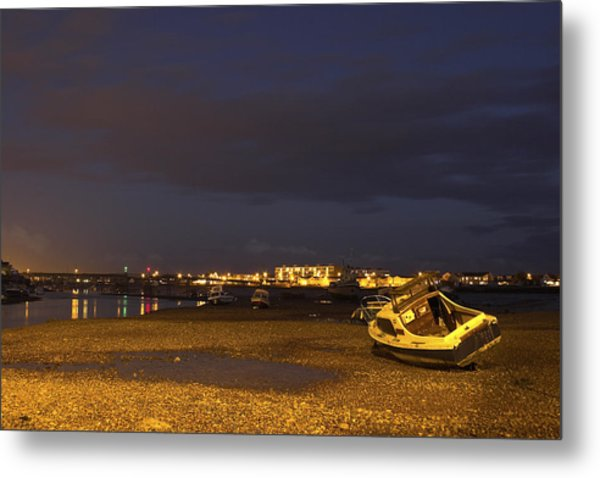 Low Tide At Dusk Metal Print