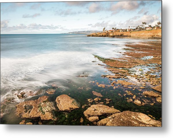 Low Tide At Sunset Cliffs Metal Print