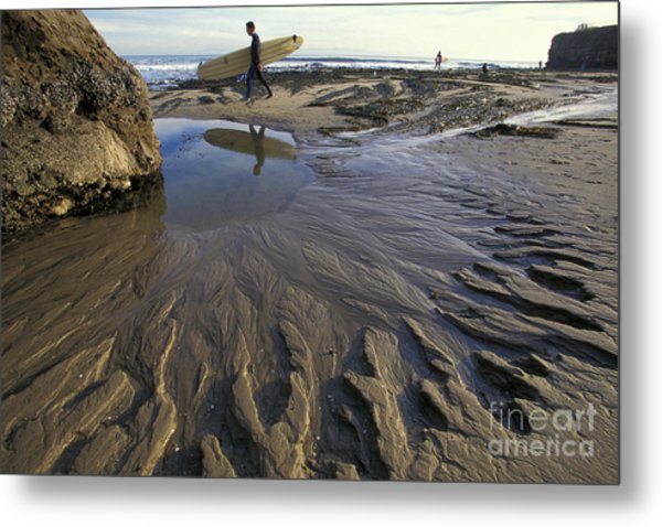 Low Tide At The Lane Metal Print by Stan and Anne Foster