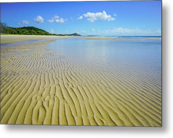 Low Tide Beach Ripples Metal Print