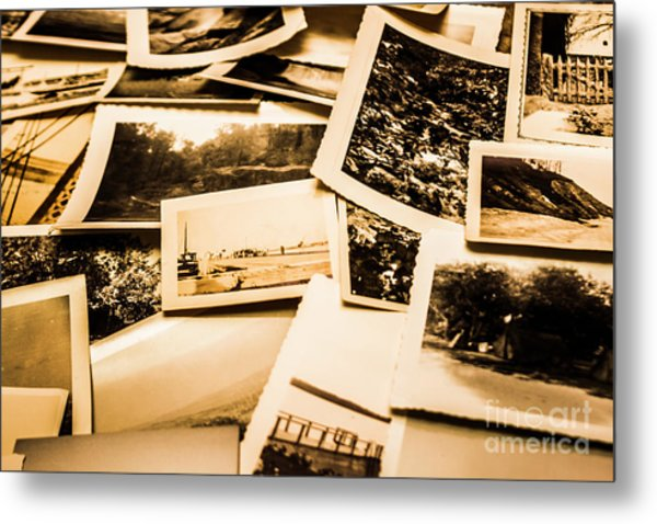 Lowdown On A Vintage Photo Collections Metal Print