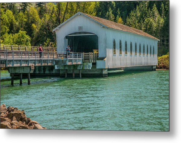 Lowell Covered Bridge Metal Print