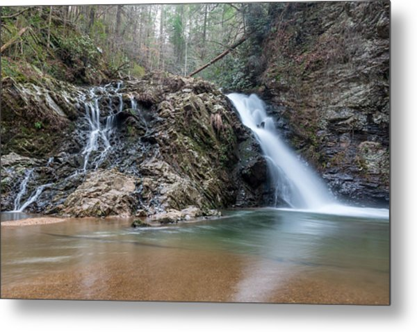 Lower Brasstown Falls Metal Print