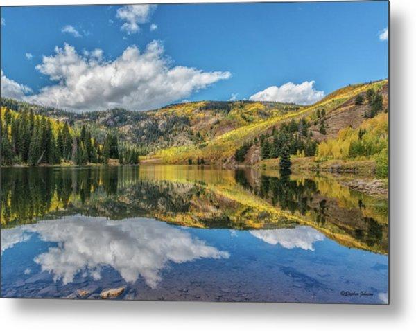 Lower Cataract Lake Aspen Metal Print