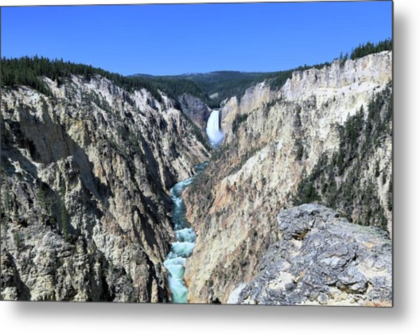 Lower Falls From Artist Point Metal Print
