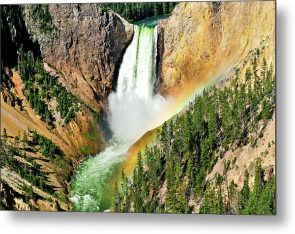 Lower Falls Rainbow Metal Print