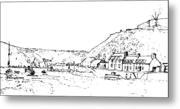 Lower Fishguard Metal Print by Frank Hamilton