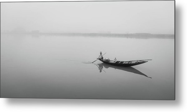 Lower Ganges - Misty Morinings Metal Print