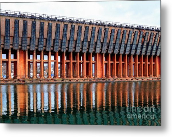 Lower Harbor Ore Dock, Marquette, Michigan Metal Print by John December