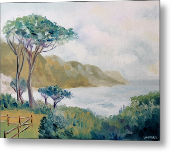 Lower Kloof Road Cape Town South Africa Oil Painting Metal Print by Mark Webster