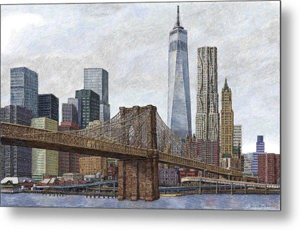 Lower Manhattan Skyline 2 Metal Print