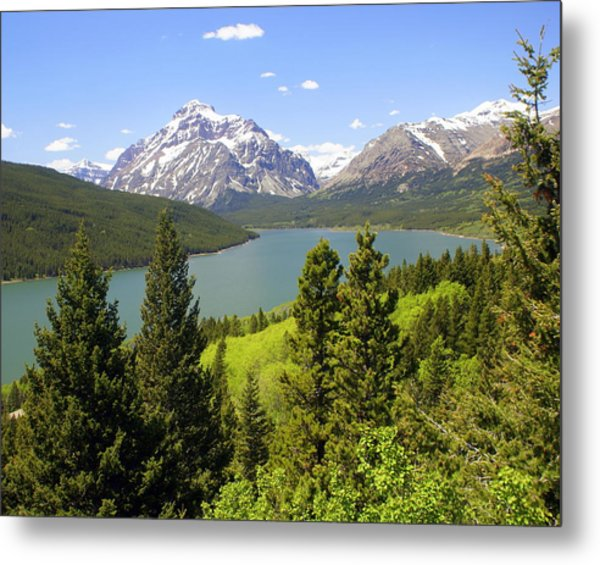 Lower Two Medicine Lake Metal Print