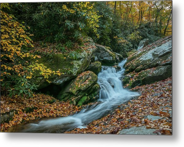 Lower Upper Creek Falls Metal Print