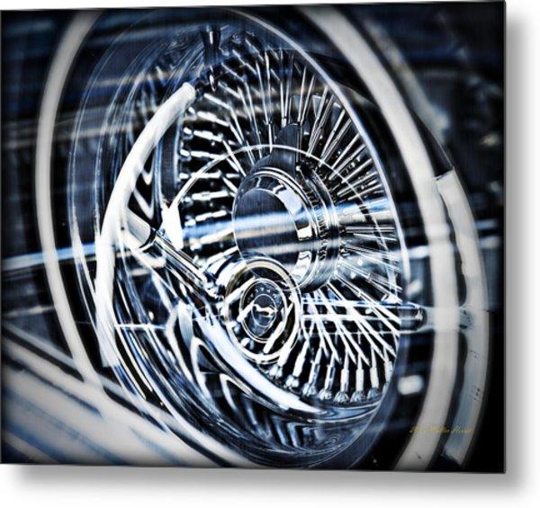 Lowrider Wheel Illusions 1 Metal Print