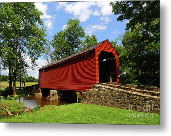 Loys Station Covered Bridge Frederick County Maryland Metal Print