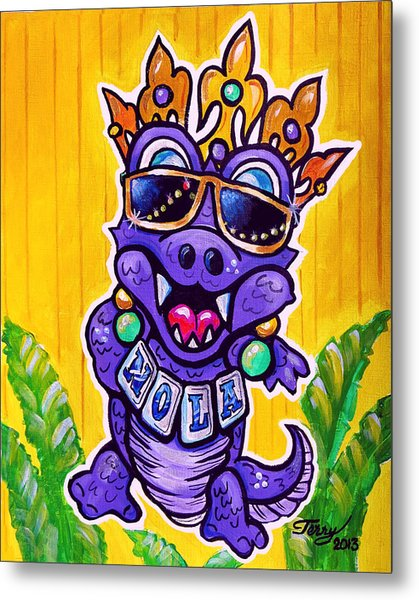 Lt Aka Nola Gator Metal Print by Terry J Marks Sr