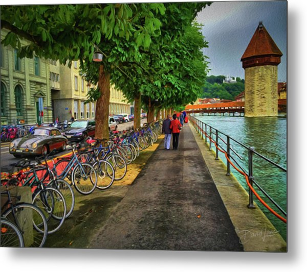Metal Print featuring the photograph Lucerne Strolling by David A Lane