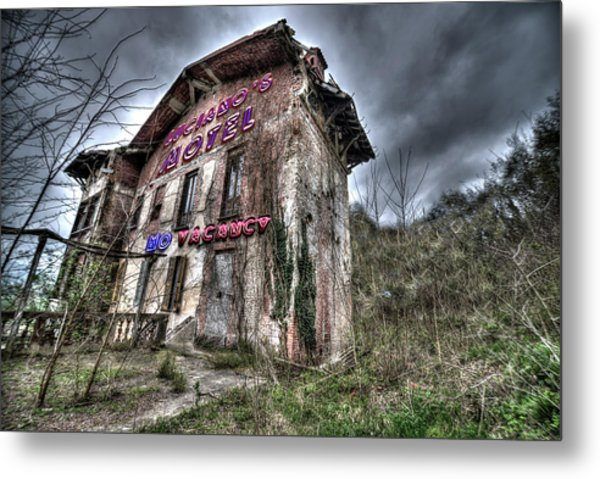 Luciano's Motel Metal Print