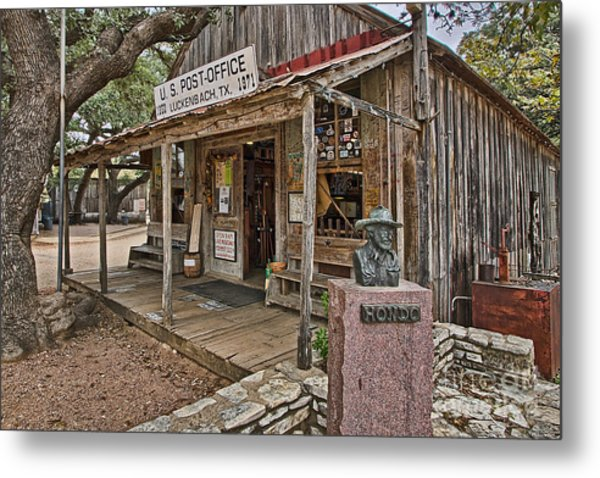 Luckenbach Post Office And General Store_2 Metal Print