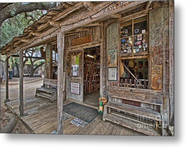 Luckenbach Post Office And General Store_4 Metal Print