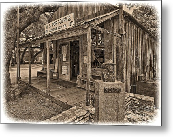 Luckenbach, Tx Post Office Metal Print