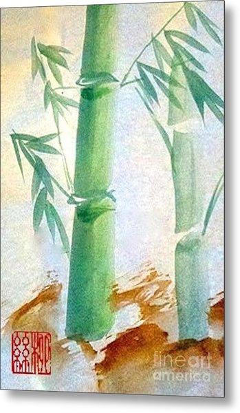 Lucky Bamboo Metal Print
