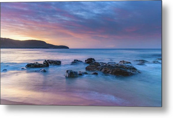 Luminescent Sunrise Seascape Metal Print