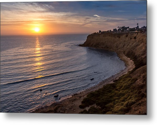 Lunada Bay Sunset Metal Print