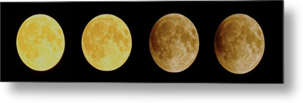 Lunar Eclipse Progression Metal Print