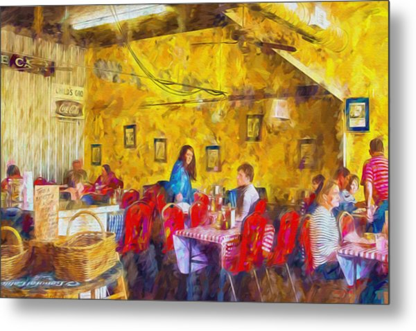 Lunchtime - Country Cafe Metal Print by Barry Jones