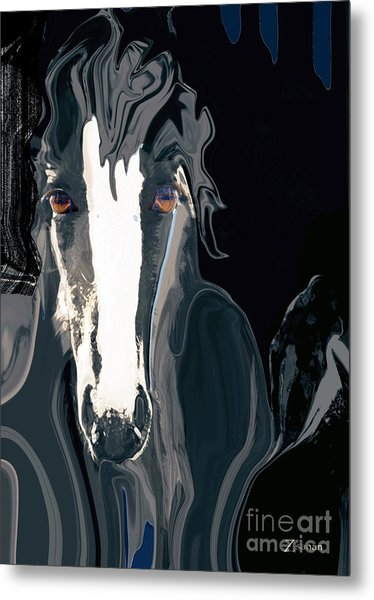 Lungta Windhorse No. 2-energy Metal Print