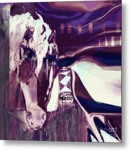 Lungta Windhorse No 5 Metal Print