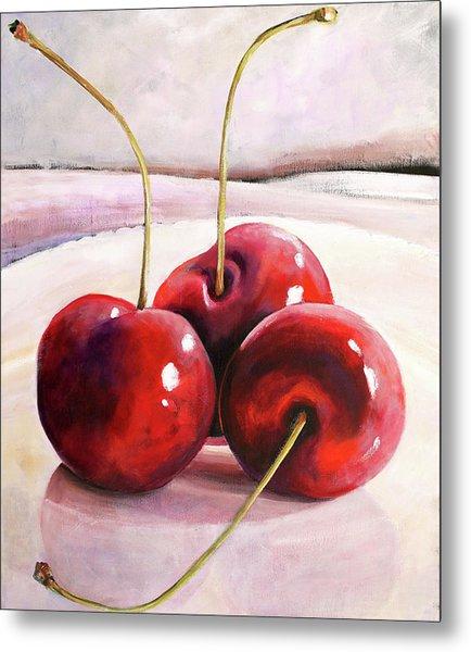 Luscious Cherries Metal Print