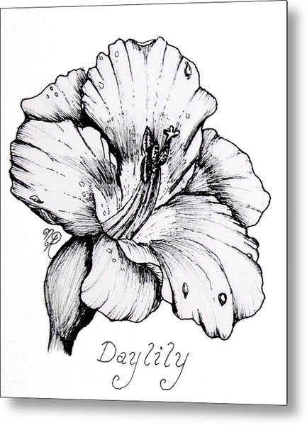 Luscious Daylily  Metal Print