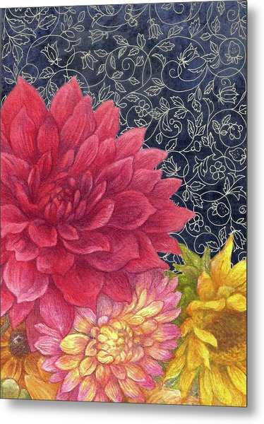 Lush Fall Botanical Metal Print