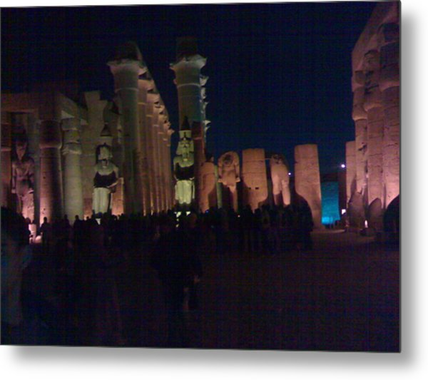 Luxor City In Egypt Metal Print by Samar Abdelmonem