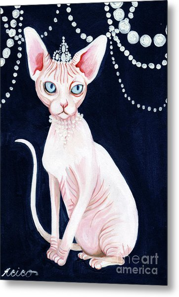 Luxurious Sphynx Metal Print