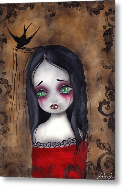 Luzie Metal Print by  Abril Andrade Griffith